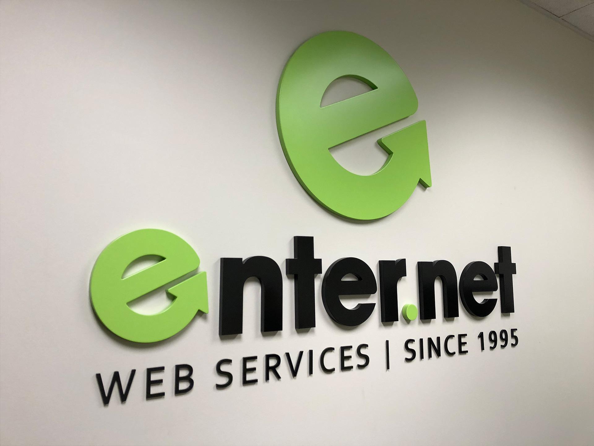 Enter.Net Wall Art Logo