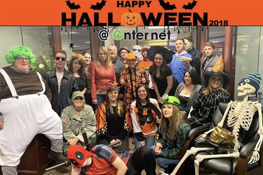 Enter.Net Team Dressed For Halloween