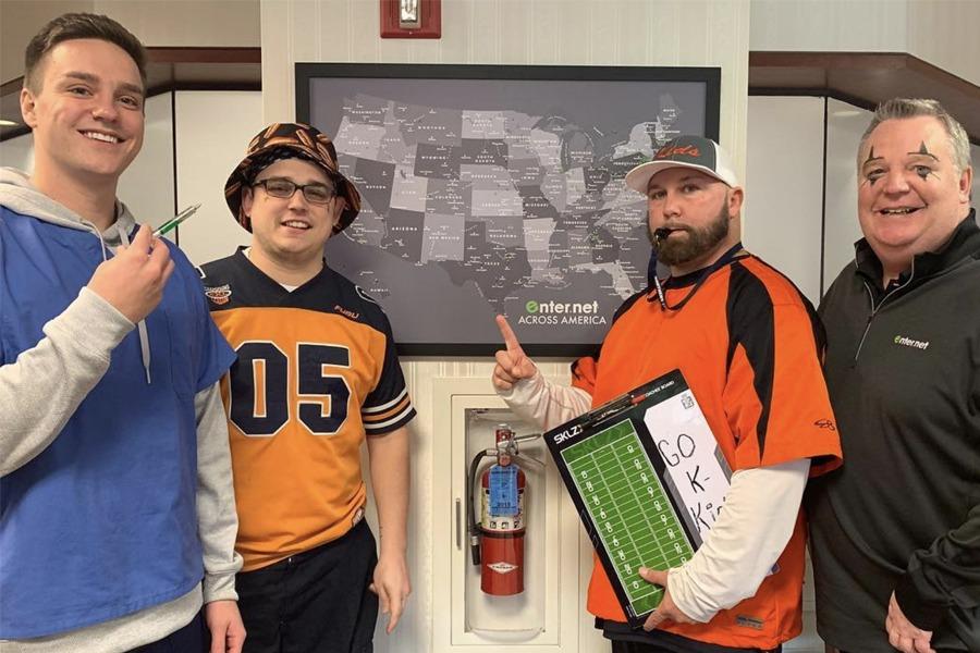 Sales team in costume